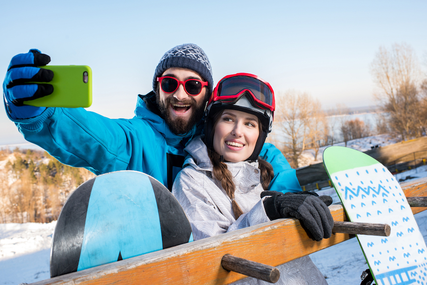 Active Couple skiing Lynnwood Washington