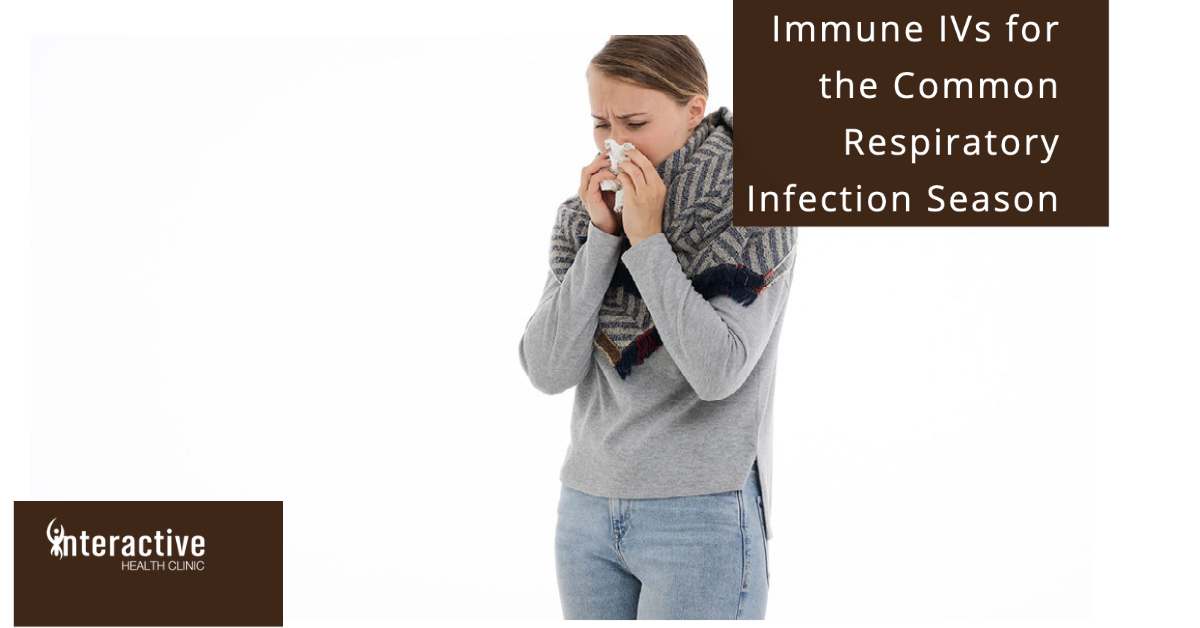 Immune IVs For the Common Respiratory Infection Season woman with a cold